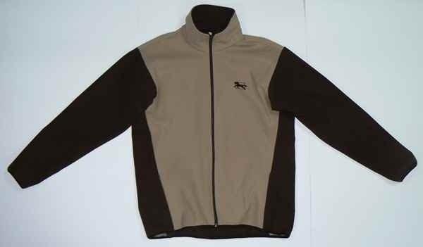 Bluza polarowa WINDSTOPER beżowo-brązowy - Męski