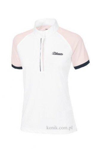 Koszulka konkursowa damska wiosna-lato 2016 PIKEUR - white/rose