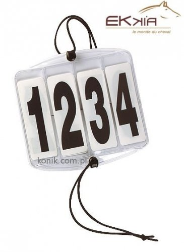 Numerek startowy 4 cyfry na gumkach - EKKIA