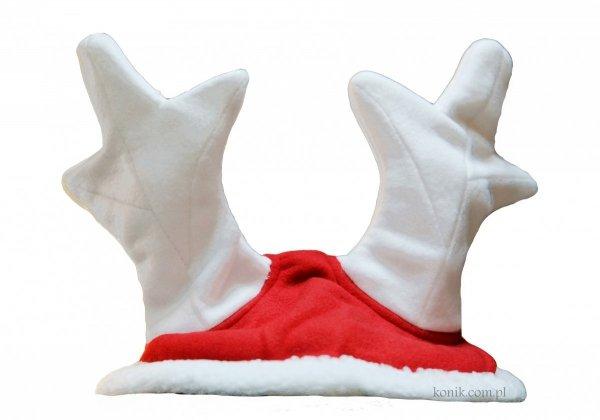 Nauszniki świąteczne - rogi renifera - EKKIA
