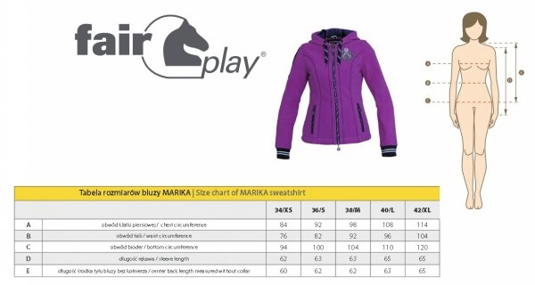 Bluza polarowa MARIKA - FAIR PLAY
