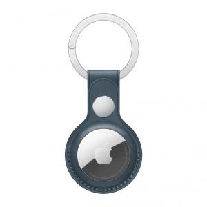Apple Skórzany brelok do AirTaga -  bałtycki błękit