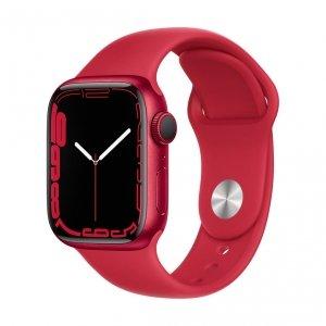 Apple Watch Series 7 41mm GPS Koperta z aluminium w kolorze (PRODUCT)RED z paskiem sportowym w kolorze (PRODUCT)RED