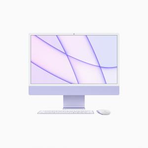 Apple iMac 24 4,5K Retina M1 8-core CPU + 8-core GPU / 8GB / 256GB SSD / Gigabit Ethernet / Fioletowy (Purple) - 2021
