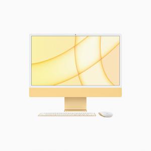Apple iMac 24 4,5K Retina M1 8-core CPU + 8-core GPU / 8GB / 512GB SSD / Gigabit Ethernet / Żółty (Yellow) - 2021