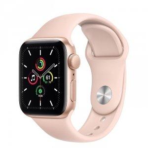 Apple Watch SE 40mm GPS Aluminium w kolorze złotym z paskiem sportowym w kolorze piaskowego różu - outlet