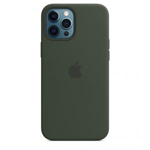 Apple Silikonowe etui z MagSafe do iPhone'a 12 Pro Max – cypryjska zieleń