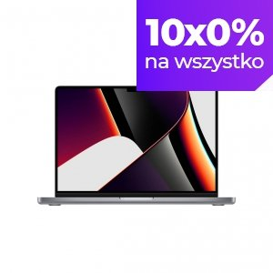 Apple MacBook Pro 14 M1 Pro 10-core CPU + 14-core GPU / 32GB RAM / 8TB SSD / Gwiezdna szarość (Space Gray)
