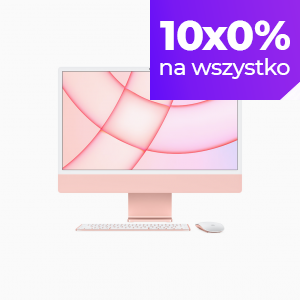 Apple iMac 24 4,5K Retina M1 8-core CPU + 7-core GPU / 16GB / 1TB SSD / Różowy (Pink) - 2021