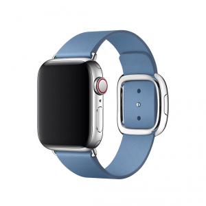 Apple pasek z klamrą nowoczesną w kolorze chabrowym do Apple Watch 38/40 mm - Rozmiar S - outlet
