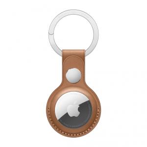 Apple Skórzany brelok do AirTaga -  naturalny brąz