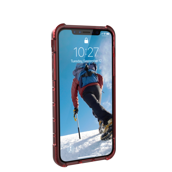 UAG Plyo - obudowa ochronna do iPhone X (czerwona przeźroczysta)