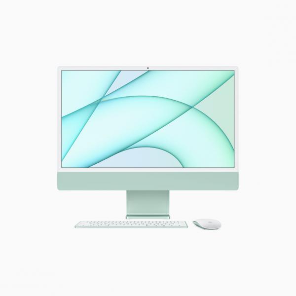 "Apple iMac 24"" 4,5K Retina M1 8-core CPU + 7-core GPU / 8GB / 256GB SSD / Zielony (Green) - 2021"