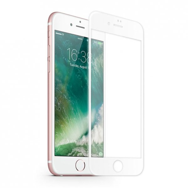 KMP Szkło ochronne na iPhone 7 / iPhone 8 White (biały)
