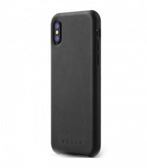 Mujjo Full Leather - etui skórzane do iPhone X  (czarne)
