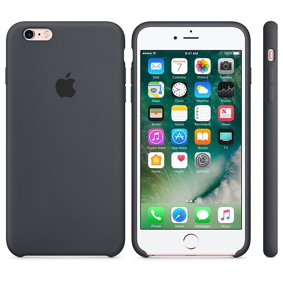 Apple Silicon Case Etui do iPhone 6/6s Charcoal Gray (grafitowy)