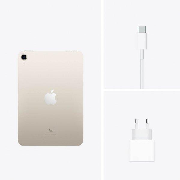 """Apple iPad mini 6 8,3"""" 256GB Wi-Fi Księżycowa poświata (Starlight)"""
