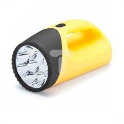 Latarka plastikowa 8xLED 4xAA max.18h żółta L-N8-LED