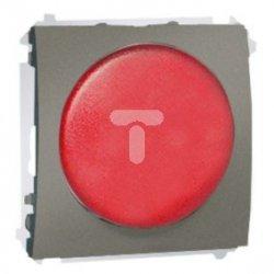 Simon Classic Sygnalizator świetlny LED – światło czerwone 230V platynowy MSS/2.01/27 WMCS-020x2x-P013