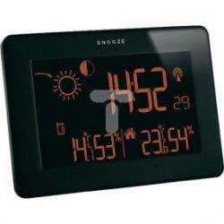 Stacja pogodowa bezprzewodowa Slim -40-60°C, wilgotność 20-99% 2xAA czarna 35.1128.01