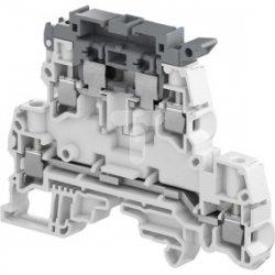 Złączka bezpiecznikowa śrubowa dwupoziomowa szara/ciemnoszara 6,3A 5x20mm 5x25mm 4mm2 ZS4-D2-SF1 1SNK508425R0000