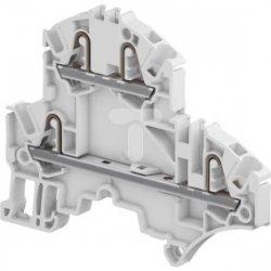 Złączka dwupoziomowa sprężynowa szara 24A 2,5mm2 (2 obwody przepustowe) ZK2.5-D2 1SNK705210R0000