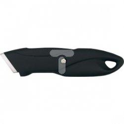 Nóż z ostrzem trapezowym metalowy korpus 17B176