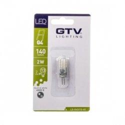 Żarówka LED SMD 3014 silikon neutralny biały G4 2W 12V DC 140lm 360 stopni LD-G4SI15-45