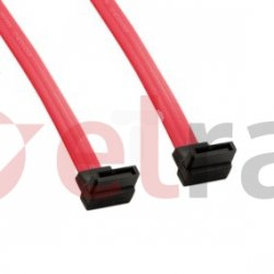 Kabel HDD SATA 3 7pin SATA (F) kątowy lewy 7pin SATA kątowy lewy 904mm 08563