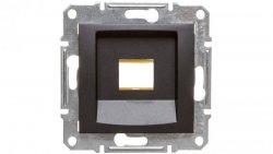 SEDNA Płytka centralna pojedyncza pod wkład komputerowy RJ45 RDM grafitowa SDN4300470