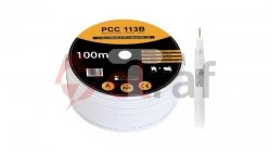 Przewód koncentryczny SAT 1,13/4,7 LIBOX reakcja na ogień Eca PCC113B /100m/
