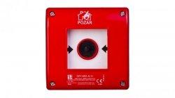 Przycisk ppoż. natynkowy 1Z 1R czerwony zwalniany samoczynnie bez sygnalizacji OP1-W01-A11