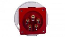 Wtyczka tablicowa 32A 5P 400V czerwona IP67 6252-6