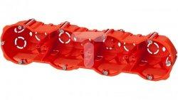 Puszka p/t regips 4x60mm głęboka z wkrętami czerwona PK-4x60 0288-00