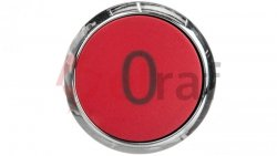 Napęd przycisku 22mm czerwony /O/ z samopowrotem metalowy IP69k Sirius ACT 3SU1050-0AB20-0AD0