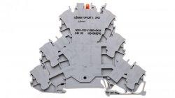Złączka 3-piętrowa 2,5mm2 z LED szara TOPJOBS 2002-3221/1000-434 /50szt./