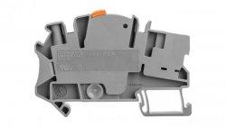 Złączka szynowa rozłączalna do przekładników pomiarowych 2-przewodowa 4mm2 śrubowa/wtykowa szara UTME 4/1P 3057416