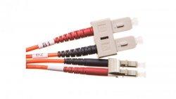 Patch cord światłowodowy LC/SC duplex MM 50/125 OM2 1m LS0H pomarańczowy DK-2532-01