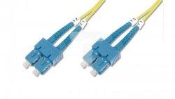 Patch cord światłowodowy SC/SC duplex SM 9/125 OS2 2m LS0H żółty DK-2922-02