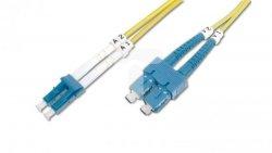 Patch cord światłowodowy LC/SC duplex SM 9/125 OS2 1m LS0H żółty DK-2932-01