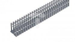 Korytko grzebieniowe elestyczne mocowane śrubami 25x25x500 szare /0.5m/ EC23404