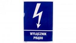 Tabliczka ostrzegawcza /WYŁĄCZNIK PRĄDU 148X210/ 8EIA/Q4/F