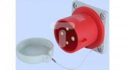Wtyczka tablicowa prosta 32A 3P+Z 400V czerwona IP44 WTP 32 4 922036