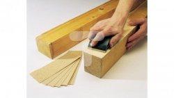 Szlifierka ręczna 130x32x70mm + paski ścierne 70x210mm gr. 40 60 80 100 120 (po 10szt każdej gradacji) WF2898000