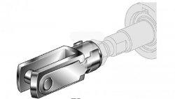 Końcówka widełkowa M16x1,5, D50-63, FS/050-063 FS/050-063