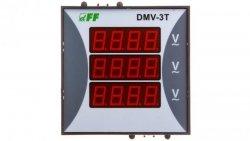 Woltomierz 3-fazowy cyfrowy modułowy 100-300V AC dokładność 0,5% TrueRMS DMV-3T