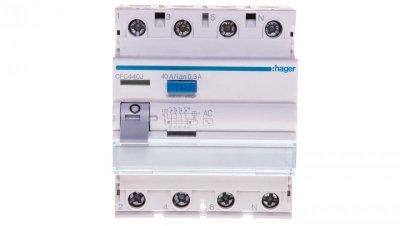 Wyłącznik różnicowoprądowy 4P 40A 0,3A typ AC CFC440J