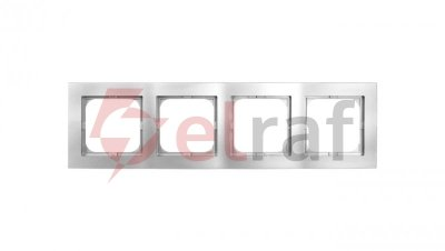 AS Ramka poczwórna srebro R-4G/18