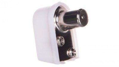 Wtyczka antenowa kątowa TV IEC 11502 /10szt./