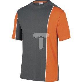 T-shirt dwukolorowy z bawełny (100%) 180 g/m2 pasuje do serii mach 2  kolor szaro-pomarańczowy rozmiar 3XL CORP  MSTSTGR3X